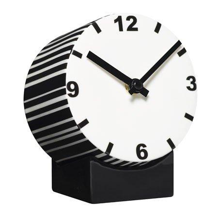 Tid Clock - hvid/sort