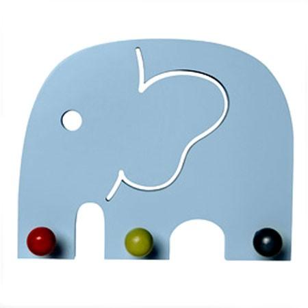 Oscar - blå elefant knagerække