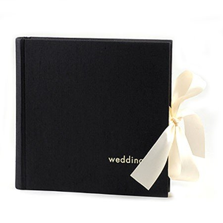 Bryllupsalbum i sort stof