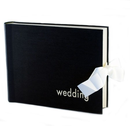 Bryllupsalbum - sort stof