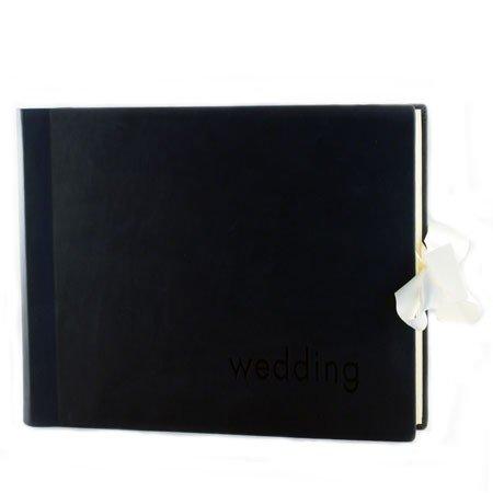 Klassisk sort bryllupsalbum