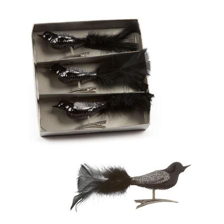 Juletræs pynt - sorte fugle