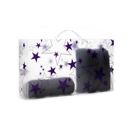 Æske til støvler - lilla stjerner (Tica)