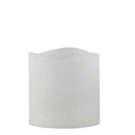 LED bloklys med timer - hvid 10 cm
