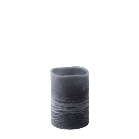 LED bloklys med timer - grå 10 cm