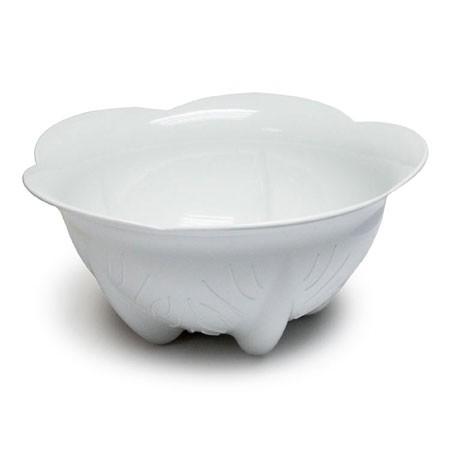 Hvid salatskål
