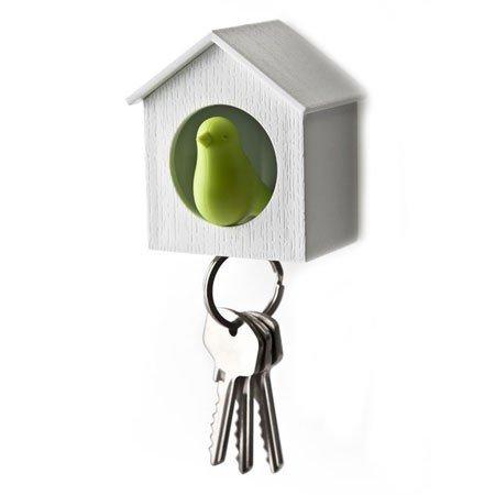 Nøgleholder fuglehus - grøn/hvid