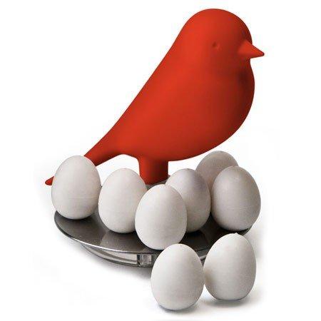 Rød fugl med magneter