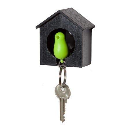 Nøgleholder fuglehus - grøn/sort