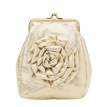 Taske med guld blomst