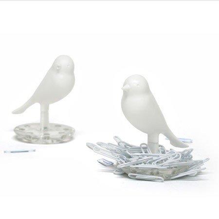 Hvid fugl clipseholder