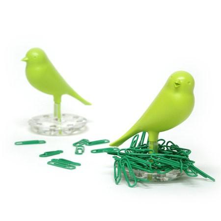 Grøn fugl clipseholder