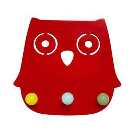 Ugle knagerække - Ofelia rød