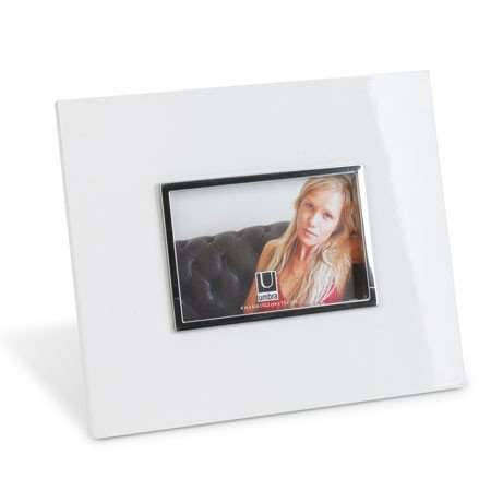 Fotoramme - h�jglans hvid 10x15 cm