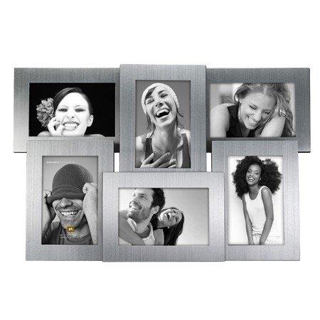 Fotoramme til 6 billeder - alu