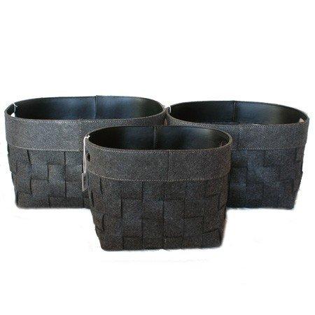 Kurve i filt - grå 3 stk.