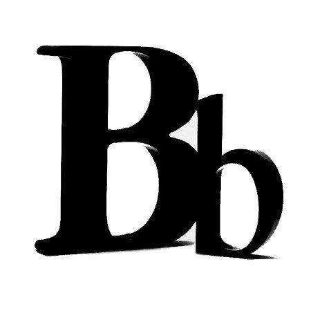 Sort bogstav - B