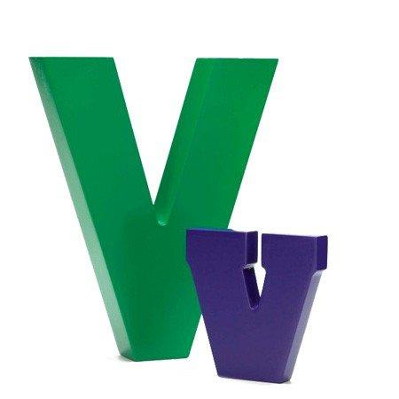 Bogstav V - grøn