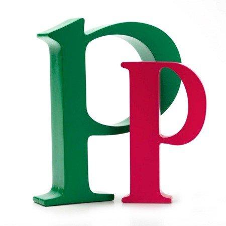 Bogstav P - pink