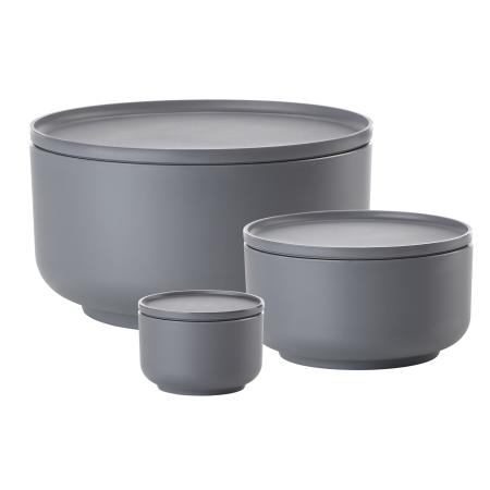 Peili skåle grå - 3 stk.