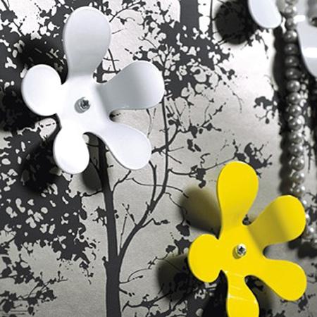 Maze blomster knage - hvid