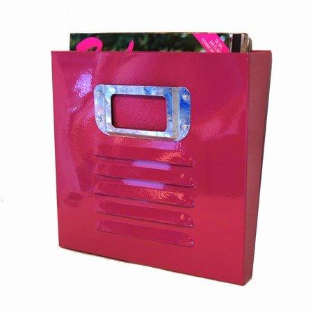 Magasinholder i pink metal