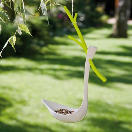 Fugle foder bræt - grøn/hvid