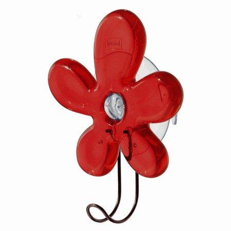 Rød blomst med sugekop - Koziol