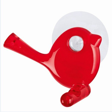 Fugle knage med sugekop - rød