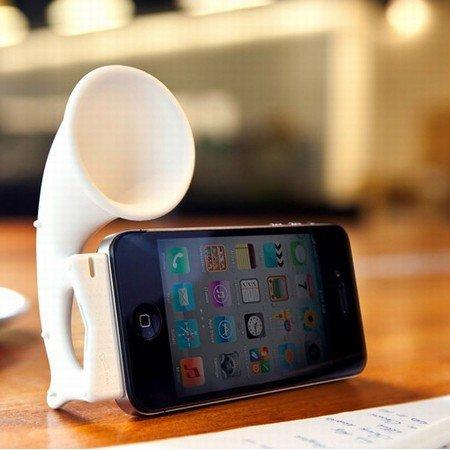 Horn Stand pro til iPhone 4/4S - hvid