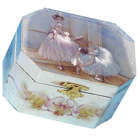 Ottekantet smykkeskrin med balletdansere
