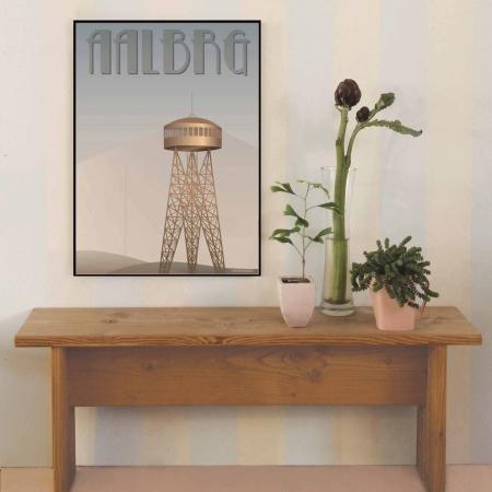 Vissevasse plakat - Aalborgtårnet 50x70 cm