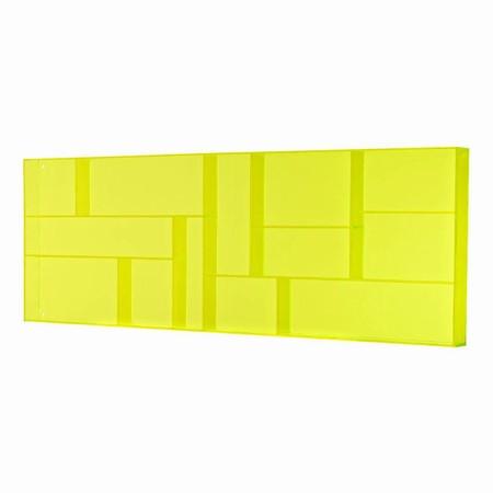 Sættekasse - gul akryl