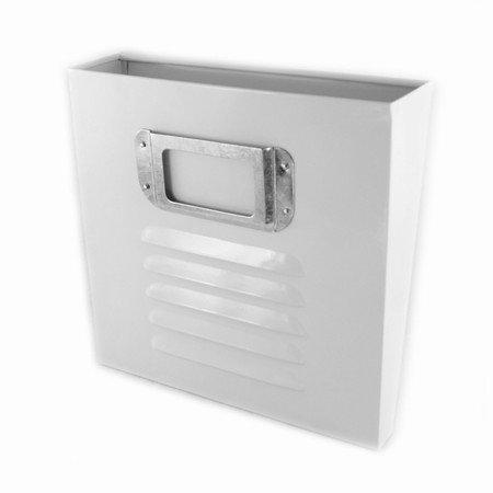 Avisholder - hvid metal