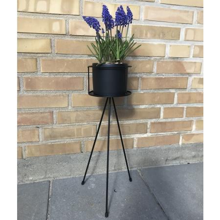 Blomster opsats med potte  - H 50 cm