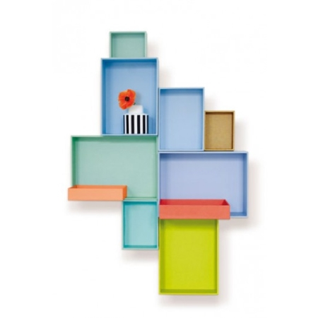 Kasser til væg - 10 stk kasse - reolsystem og hylder til væg