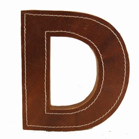 Læder bogstav - D