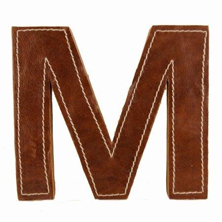 Læder bogstav - M