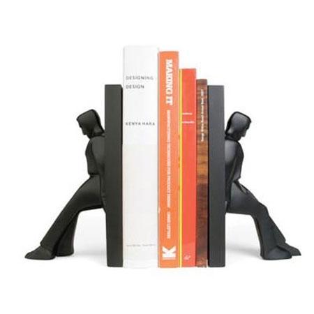 Bookends leaning men - bogstøtter