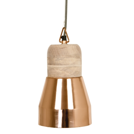 Pendant Bold Wood lampe - kobber medium