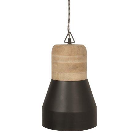 Pendant Bold Wood lampe - sort medium