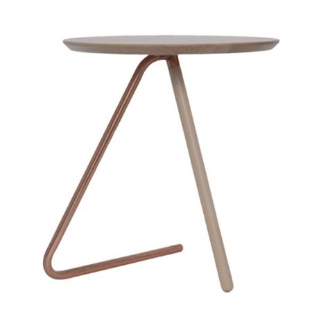 Bord med kobber ben - træ plade