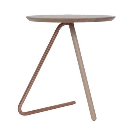 Bord med kobber ben - tr� plade