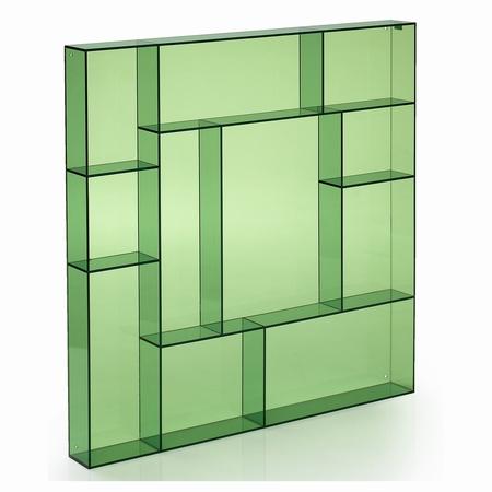 Sættekasse kvadratisk - grøn akryl