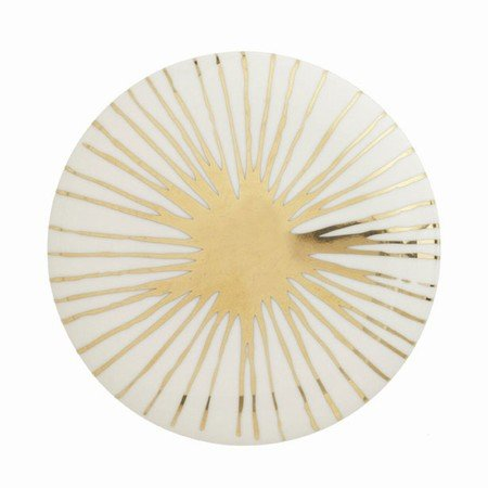 Hvid Casalinga knage / greb med guld - large