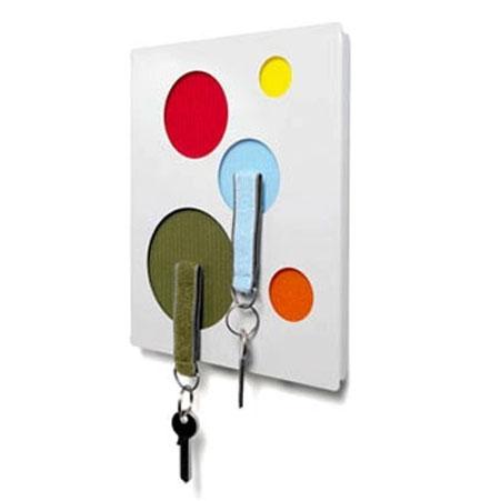 Nøglebræt - Clote hvid/multi