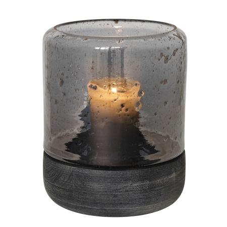 Lysestage Hurricane - sort glas