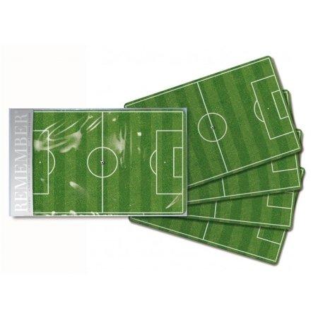 D�kkeservietter fodboldbane - 4 stk