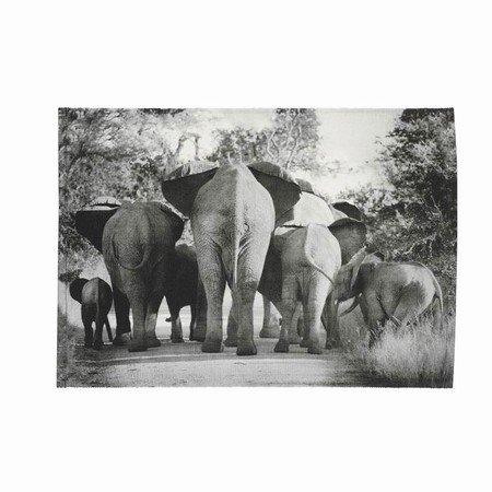 Dækkeserviet med elefanter