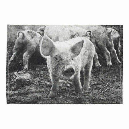 Dækkeserviet med grise